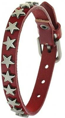 BRLTime Mens Genuine Cow Leather Wristband Metal Studded Bracelet Rock Punk