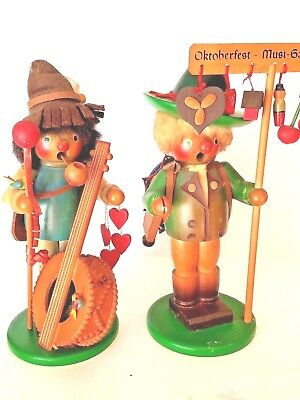 2 Vintage Steinbach Original German Incense Smokers w/ Reuge Music Boxes