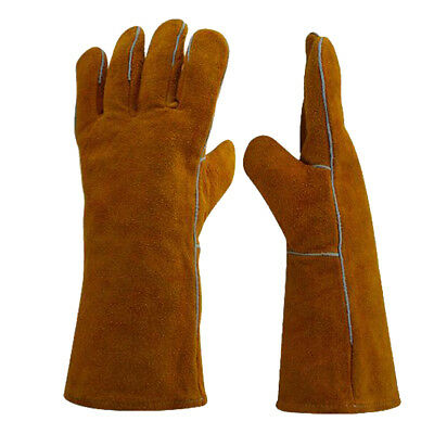 Pair of Protective Gloves Welding Gear Hands Cover Finger Heat Shield Safety