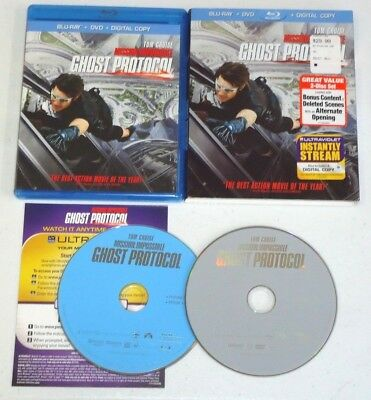 Mission: Impossible - Ghost Protocol (Blu-ray/DVD, 2012, 2-Disc Set) Tom Cruise