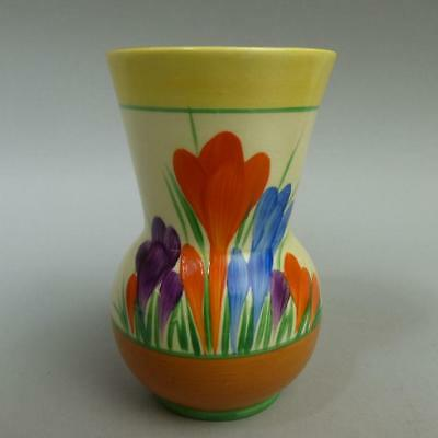 CLARICE CLIFF ART DECO POTTERY AUTUMN CROCUS VASE 1930's
