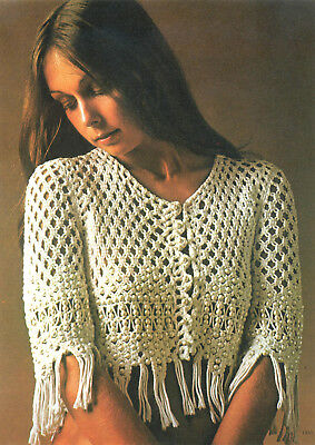 Make This Vintage Macrame Beaded Jacket...copy Pattern Only