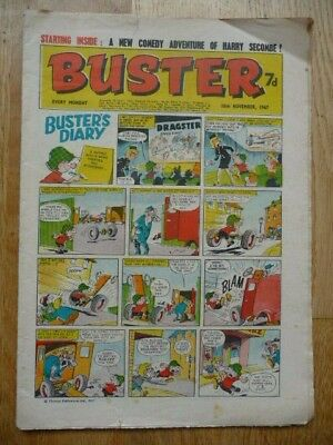 Vintage Buster Comic 18th Nov 1967 - Buster's Diary Cover Strip - Fleetway