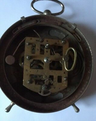 H.A.C. Goliath Repeater Alarm Clock Working Fine, Back and Knobs Missing