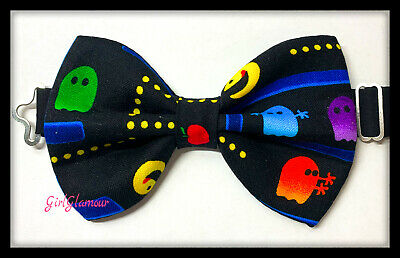 PACMAN PAC-MAN Hair Bow Tie Band Headband Bandana Fabric Hairband Retro Game