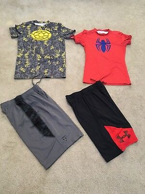 4PC. Under Armour  Shirt Shorts Pants Lot Boys Youth Size Large