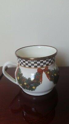 MacKenzie Childs Christmas ornament Cup new