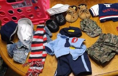 HUGE LOT of Build a bear clothes outfits military Boston Red Sox Celtics police