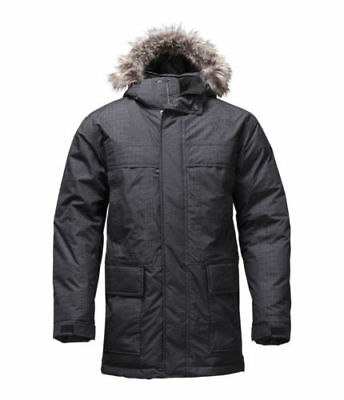 North Face Mens MCMURDO Parka II 550 Down Jacket Black Croc Embossed Size XL New