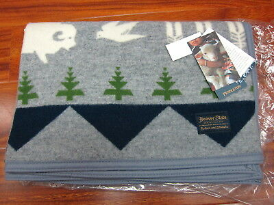 "Pendleton Shared Paths Jaquard Muchacho Blanket Grey 32""x44""  Made in USA!!"