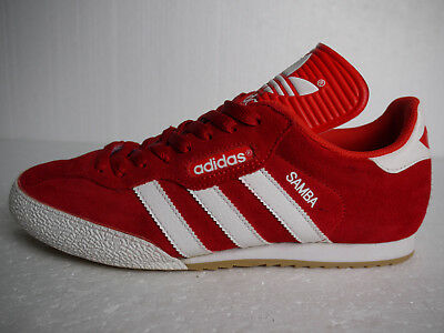ADIDAS ORIGINALS SAMBA Super Red Suede & White Stripes (UK 8) Rare