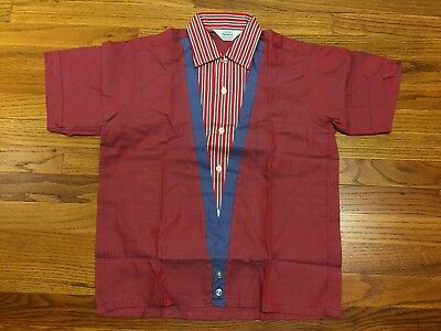DEADSTOCK NEW 60s PENNEY'S BOYS RED SPORT SHIRT BUTTON DOWN MOD V VEST SIZE 18