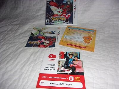 Nintendo 3DS POKEMON Y  - Case & Insert Only - NO GAME!