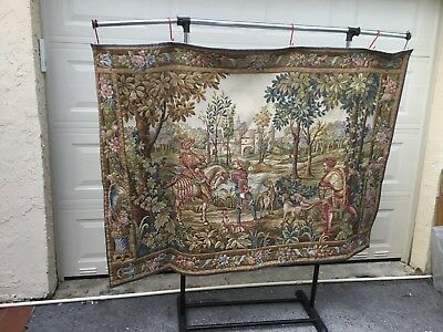 vintage wall hanging tapestry from france
