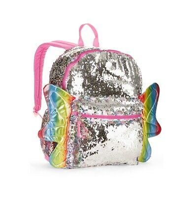 "2-Way Sequins Critter 16"" Backpack Push Pull Color Flip Puppy Dog Panda Owl"