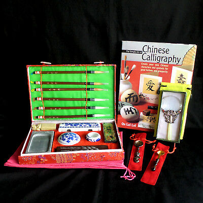 Chinese Calligraphy Set, All New, with Book & Extras, Discount Priority Shipping