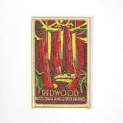 Redwood National and State Parks Souvenir Patch - Redwoods & California Park
