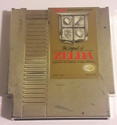 The Legend of Zelda (Nintendo Entertainment System, 1987) NES GOLD CART