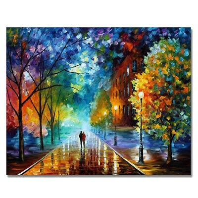 Paintworks Paint By Number Kits Diy Oil Painting Unique Gift-Romantic Night Q2G6