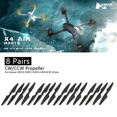 8 Pairs Propeller CW/CCW Blade for Hubsan H501S H501C H501A H501M RC Rrone RE