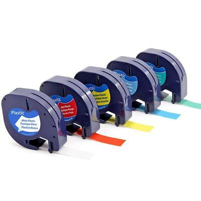 5PK Color 91331 332 333 334 335 Label Tape Compatible for Dymo LetraTag 12mm New