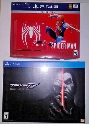SONY PlayStation 4 PS4 PRO 1TB SPIDER-MAN LIMITED EDITION Console Bundle RED NEW