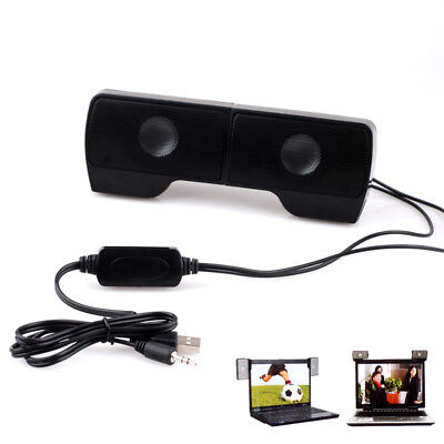Mini Portable USB Clip-On Stereo Speaker for MP3 Laptop Notebook PC Music Player