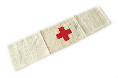 WWII Medic Arm Band Stamped / Named Wounded Medical WW2