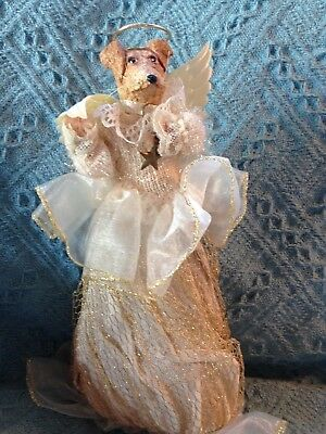 Nos Cjf Chihuahua Dog Angel Tree Topper