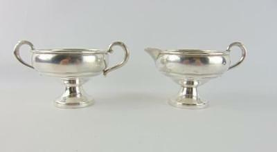 Sterling Silver Revere Creamer and Sugar Bowl Set No Mono Weighted Base 167 Grms