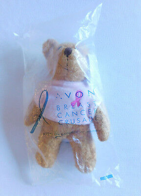 "*NEW* *NIP* AVON Breast Cancer Crusade Bear: 6.5"" tall"