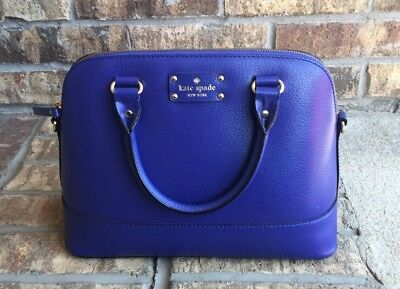 Kate Spade Wellesley Small Rachelle Satcel Emperor Blue Pre-owned