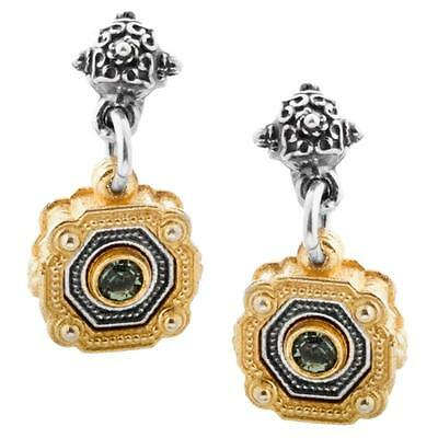 S229 ~ Sterling Silver & Swarovski Medieval Drop Earrings