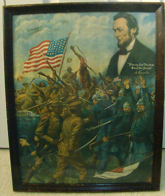 Original 1918 Sons Of Freedom Framed Poster/ Print. Chas. Gustrine Chicago