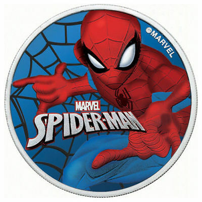 SPIDERMAN 1 oz Silver coin Colorized and GLOW IN THE DARK with Box and CoA