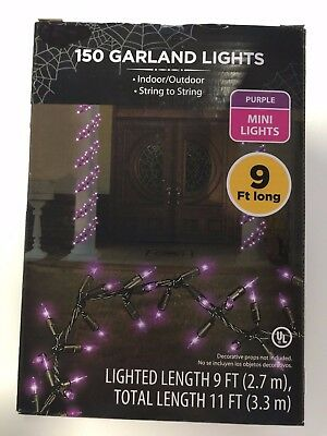 150 Garland String Lights Purple Fall Autumn Halloween (11 ft total length)
