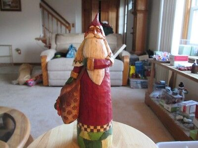 Jim Shore 2002 Old Style Santa with Bag