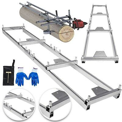 ChainsawRail Mill Guide System 9ft 2.7M 4 Reinforce First Cut Saw Mill Gloves