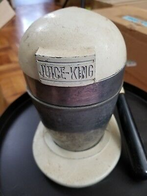 Vintage 1940's Retro Juice King Juicer Model JK35 JK-35 with Hand Crank handle