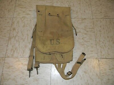 Original WW1 U.S. M-1910 Canvas Back Pack 1918