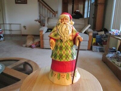 Jim Shore 4046763 Highland Holidays Santa Figure