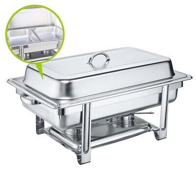 SOGA 2x4.5L Stainless Steel Chafing Dish Dinner Serving Buffet Food Warmer