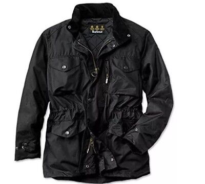 Lined Barbour Waxed Sapper Jacket - Men's Large