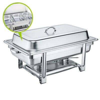 SOGA 3x3L Stainless Steel Chafing Dish Dinner Serving Buffet Food Warmer