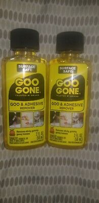 2 Bottles Magic Goo Gone Citrus Solvent Removes Gum Grease & Tar - 2oz Each