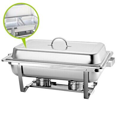 SOGA Stainless Steel 2x4.5L Chafing Dish Buffet Food Warmer Dual Tray