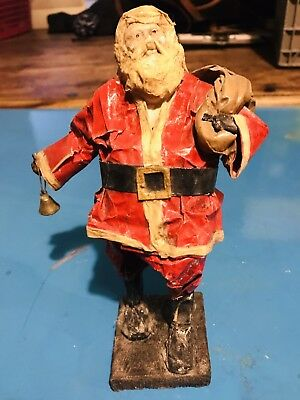 Paper Mache Santa Clause Very Old