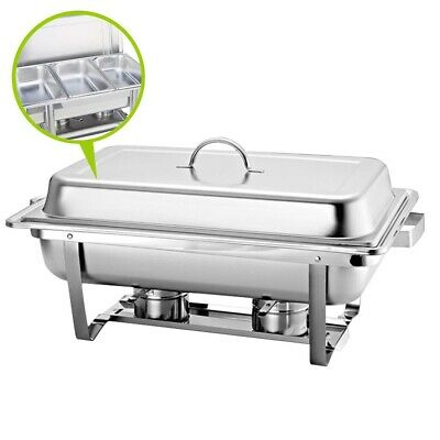 SOGA Stainless Steel 3*3L Chafing Dish Buffet Food Warmer Three Tray