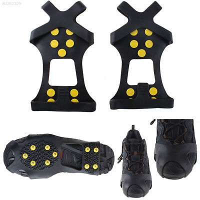 Ice Snow Grips Anti Slip On Over shoe Boot stud Crampons Cleats Spikes Grippers~