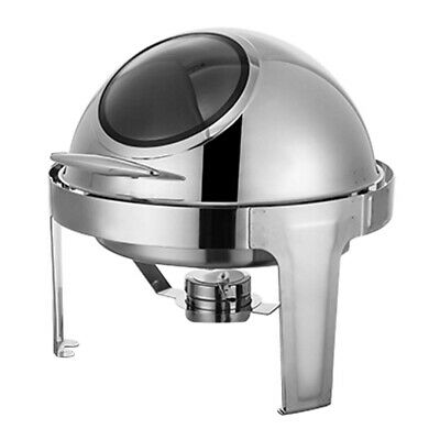SOGA Stainless Steel Round Buffet Chafer Dish with Glass Roll Top